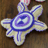Beaded Turtle Amulet - Pinks & Purples