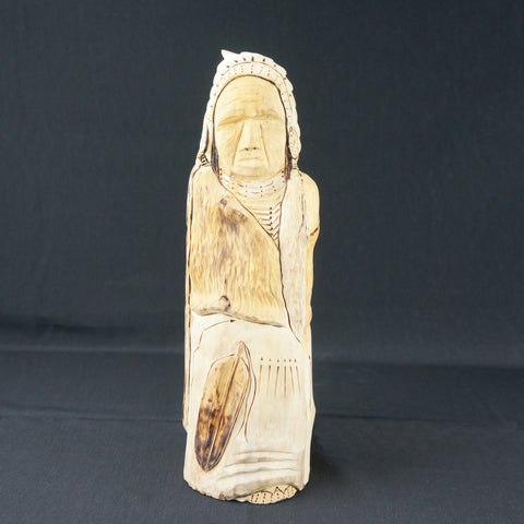 Carved Cottonwood Chief
