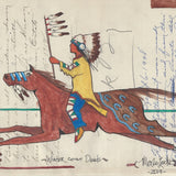Original Ledger Art - Winter Count Deeds