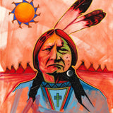 Sitting Bull with Cross