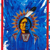 Sitting Bull in Blue