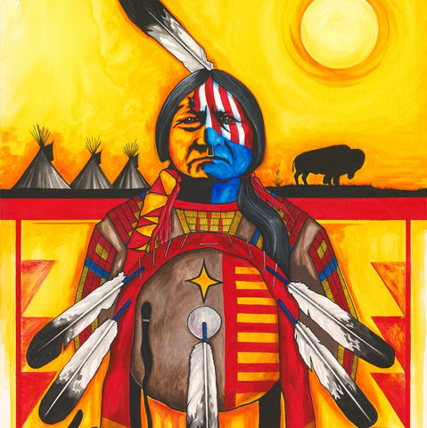 Sitting Bull with Shield