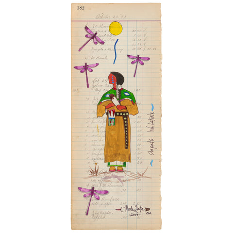 (Fine Art Print) Antique Ledger #182 - Ampetu Walakota