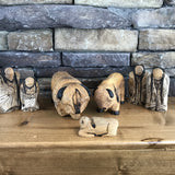 Hand Carved Buffalo Set of Three
