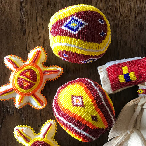 Beaded Rawhide/Canvas Balls