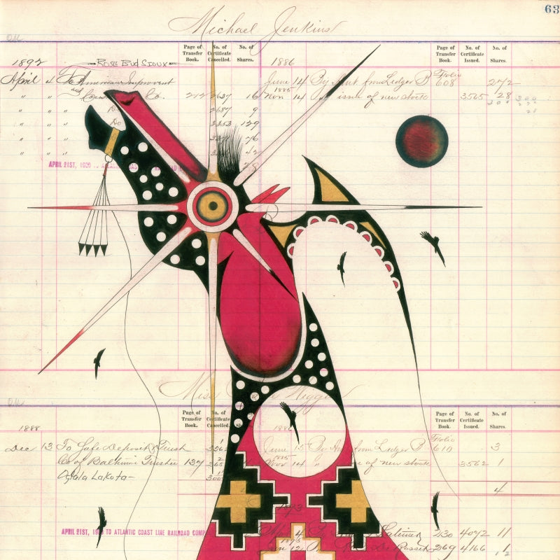 Contemporary Ledger Art by Evans Flammond