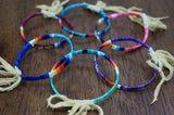 Red Cloud Quillwork - Traditional Bracelet - Blue