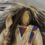 Plains Indian Art Sioux Antler Carving