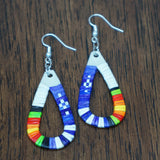 Red Cloud Quillwork Earrings - Teardrop - Five Colors!