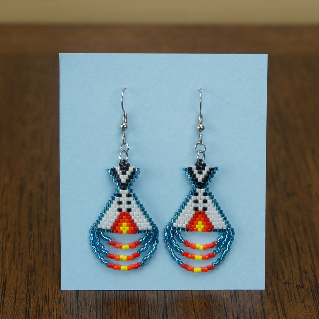 Beadwork Earrings -Tipis