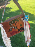 Painted Leather Bag