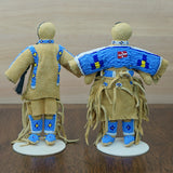 Traditional Buckskin Doll Pair - Cornflower Blue