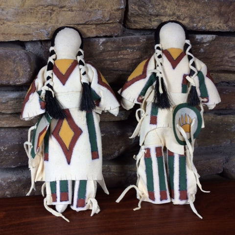 Traditional Lakota Dolls - Pair