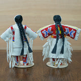 Traditional Buckskin Doll Pair - Red