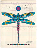 Original Ledger Art: Dragonfly