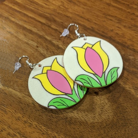 Parfleche Floral Earrings - 3 Colors