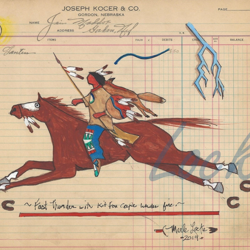 Original Ledger Art - Fast Thunder