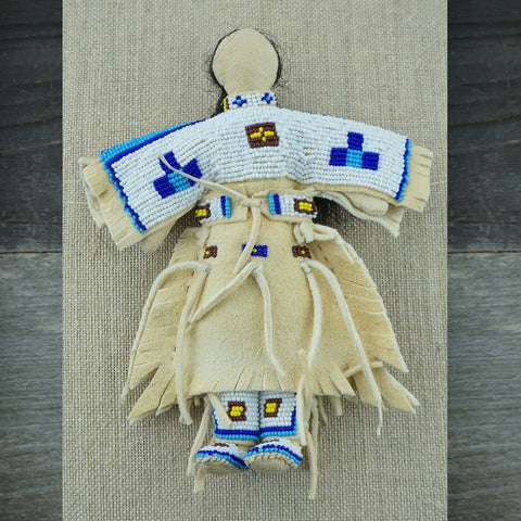 Traditional Buckskin Doll - White