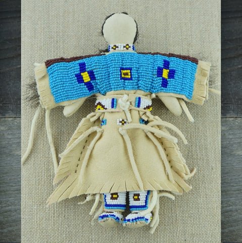 Traditional Buckskin Doll - Turquoise