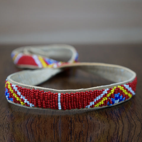 Beaded Leather Hatbands