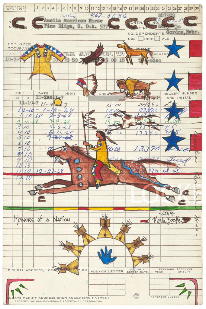 Original Ledger Art Series - Notable Names - Four Works