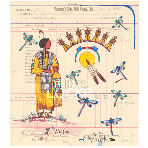 Original Ledger Art - 7th Nation