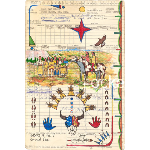 (Fine Art Prints) Ledger Art Series - Notable Names - Four Works