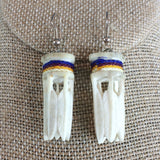 Native American Carved Antler Earrings