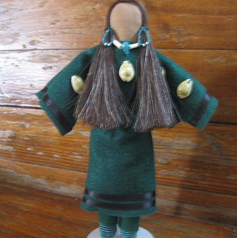 Hudson Bay Trader Doll - Green