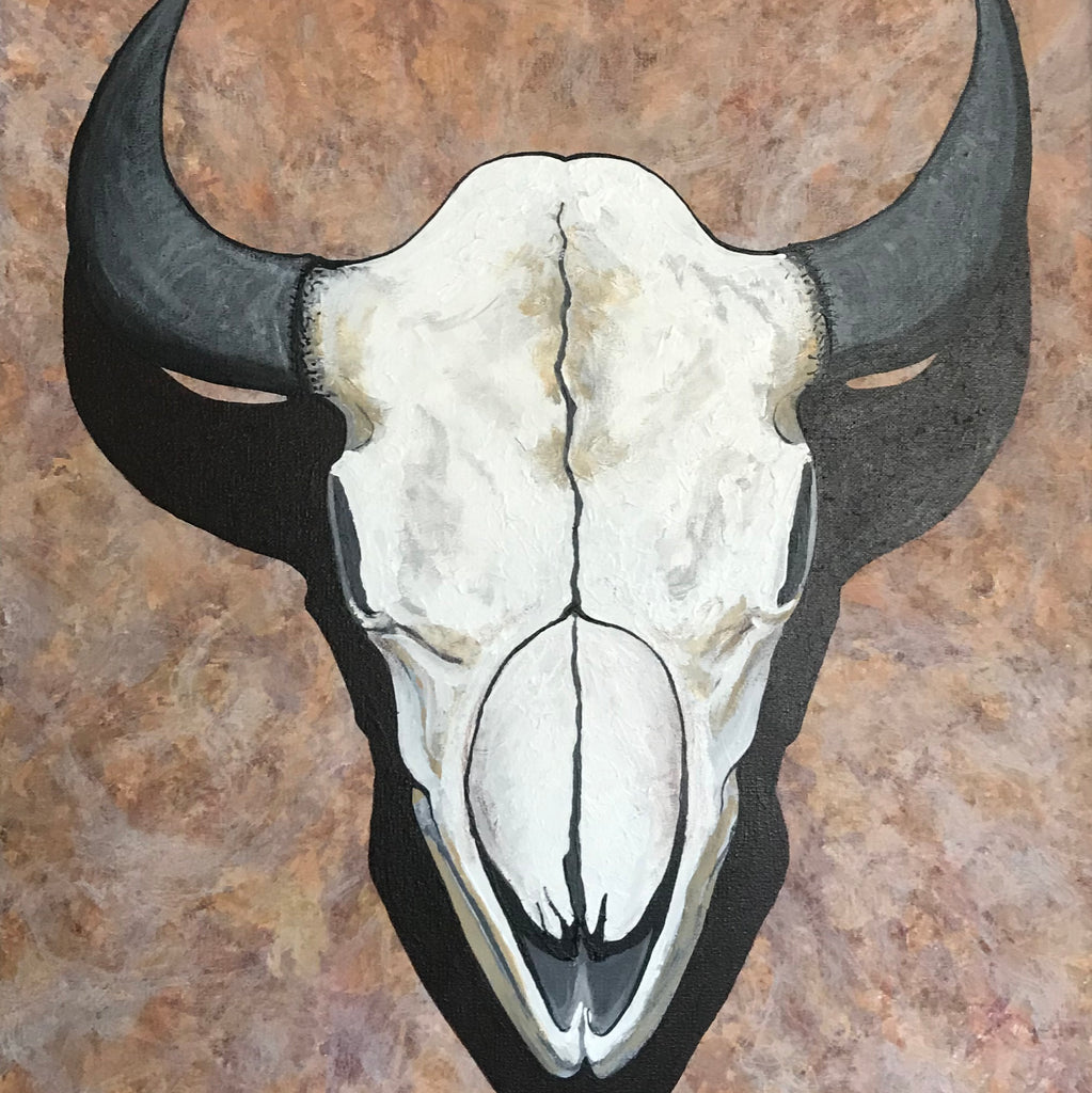 Original Painting - Buffalo Skull