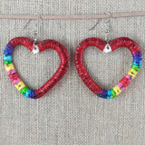 Red Cloud Quillwork - Hearts Collection