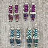 Quilled and Beaded Parfleche Earrings