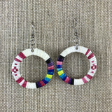 Red Cloud Quillwork Earrings - Circles Collection