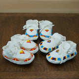 Beaded Leather Moccasins - Newborn - 3 Colors