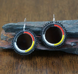 Beadwork Earrings - Mirrored Medicine Wheel