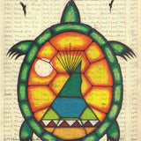 Turtle Ledger Long Life Native American