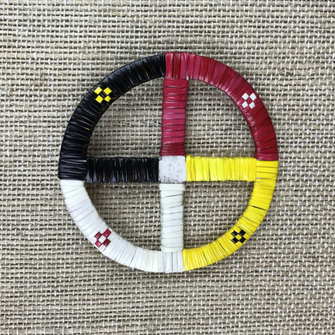 Red Cloud Quillwork - Medicine Wheel