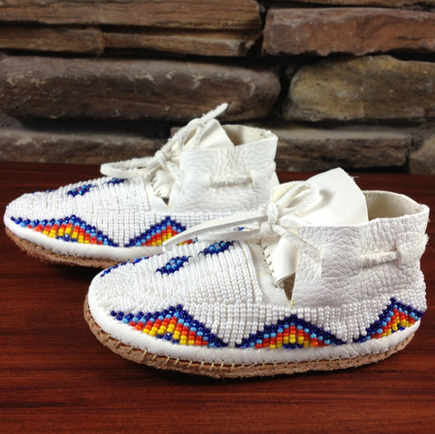Beaded Leather Moccasins - Infant Sizes