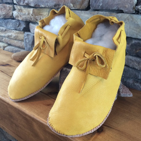 Elk Hide Moccasins - Undecorated - Men's Sizes