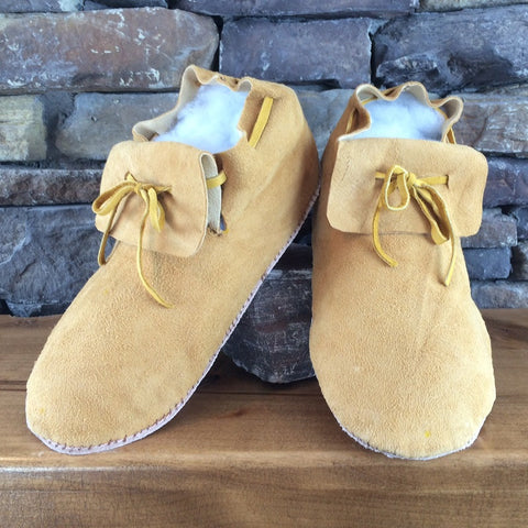 Deer Hide Moccasins - Undecorated - Men's Sizes