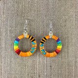 Red Cloud Quillwork Earrings - Orange Collection