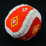 Beaded Leather & Canvas Balls
