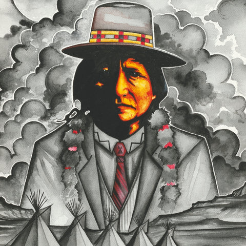 Sitting Bull #3 - Acrylic on Canvas