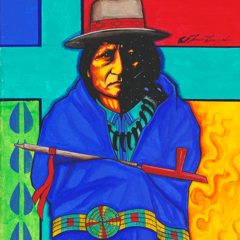 Sitting Bull #4 - Acrylic on Canvas