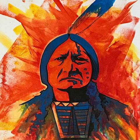 Sitting Bull #5 - Acrylic on Canvas