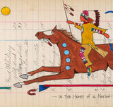 (Fine Art Print) Antique Ledger #119 - In the Heart of a Nation