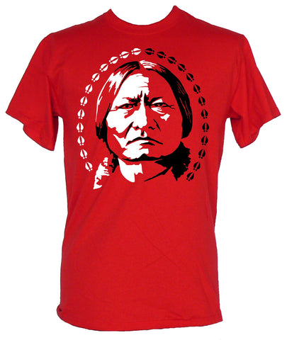 Short Sleeve T-Shirt: Sitting Bull - Red