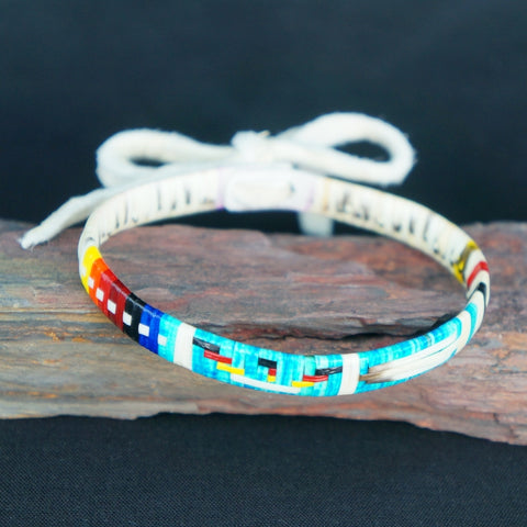 Red Cloud Quillwork - Traditional Bracelet