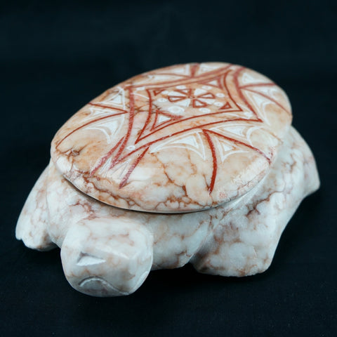 Large Turtle with Inlaid Lid