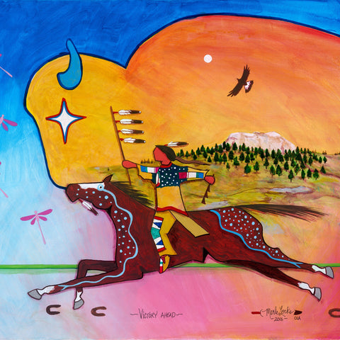 (Signed Fine Art Print) Acrylic on Canvas - Victory Ahead